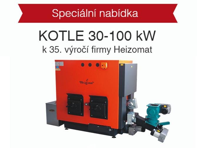 Speciální nabídka kotlů 30-100 kW k 35. výročí firmy Heizomat