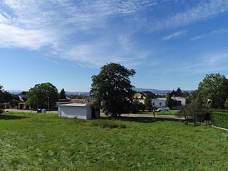 Výhled z pozemku pro RD Borek