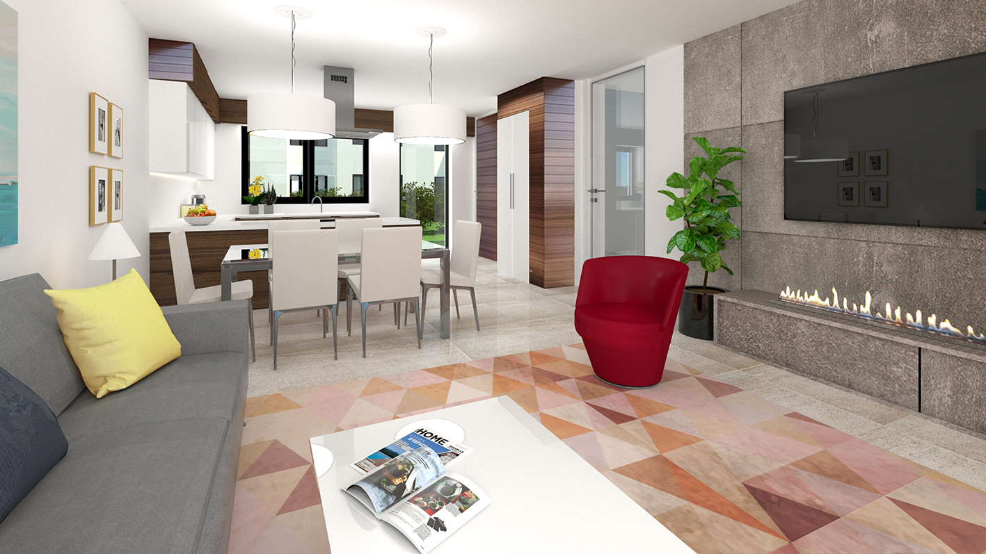 Borek RD Klasik obývací pokoj