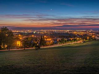 Noční pohled na město - Kodetka, Hlincová Hora, České Budějovice