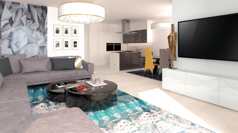 Borek RD Komfort interiér obývací pokoj