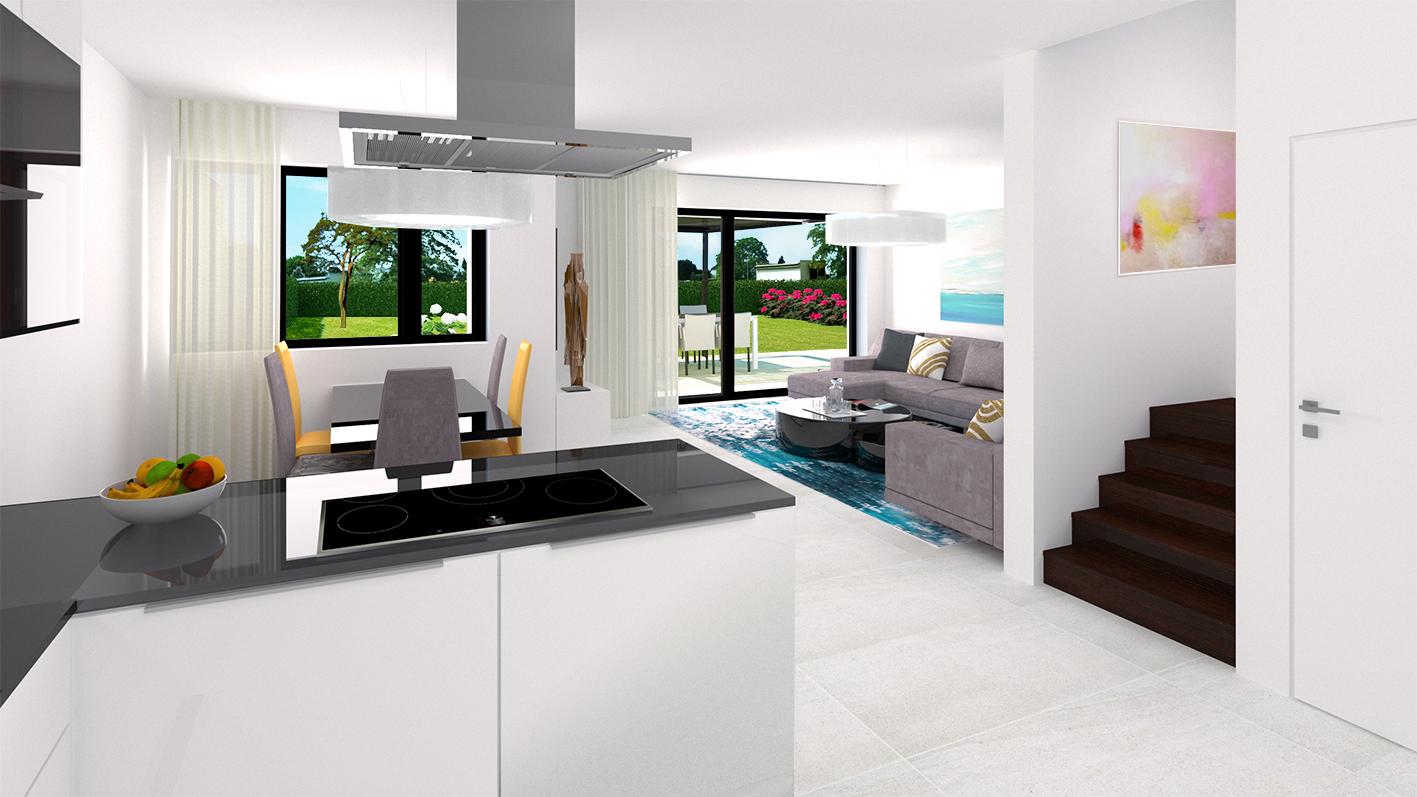 Borek RD Komfort interiér kuchyň
