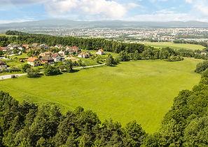 Kodetka, Hlincová Hora, České Budějovice, prodej, letecká, lokalita, příroda, lesy, louky, zeleň