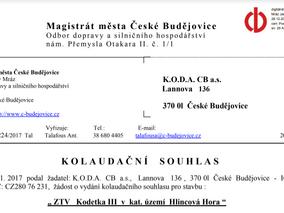 Proběhla kolaudace sítí a komunikací obytného souboru Kodetka III. etapa