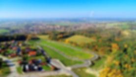 Kodetka, III. etapa, letecký pohled, na ČB, příroda