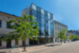 Školící centrum, Lannova, moderní, stavba, sklo, české budějovice