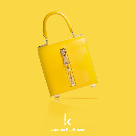 borsa in pelle gialla