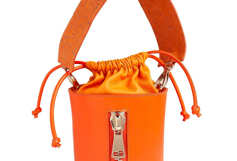 borsetta a secchiello arancione