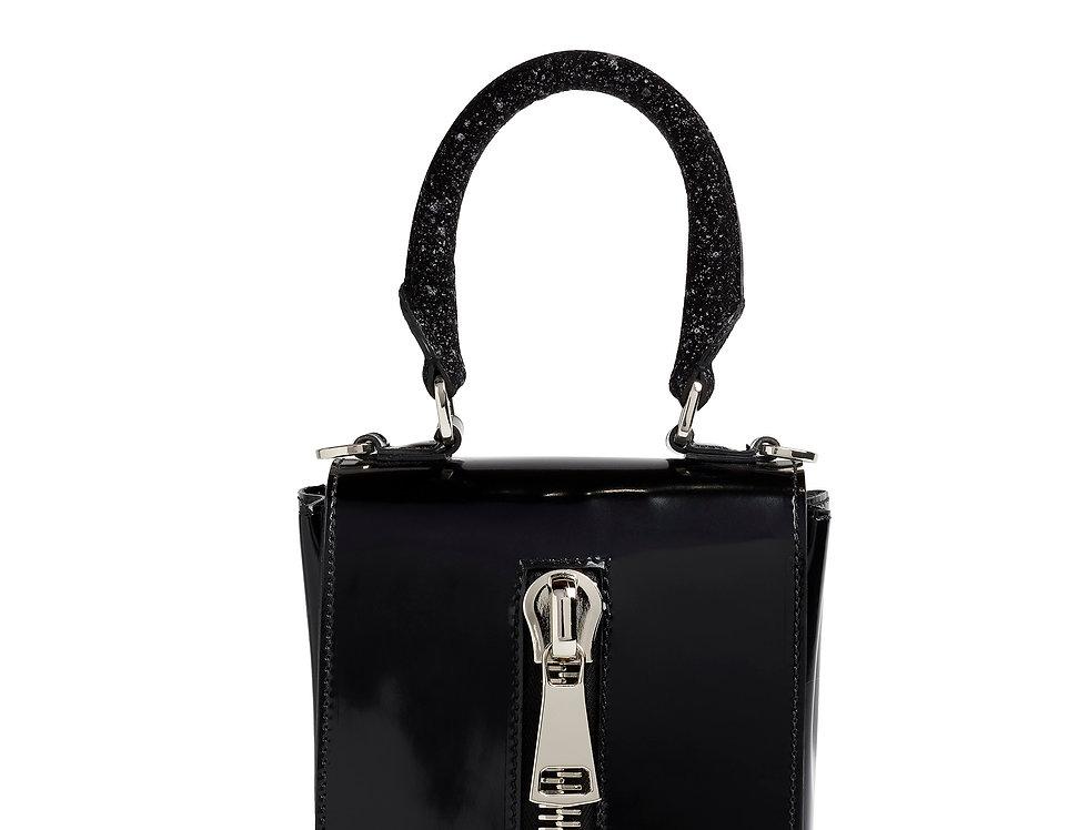 borsetta nera glitter