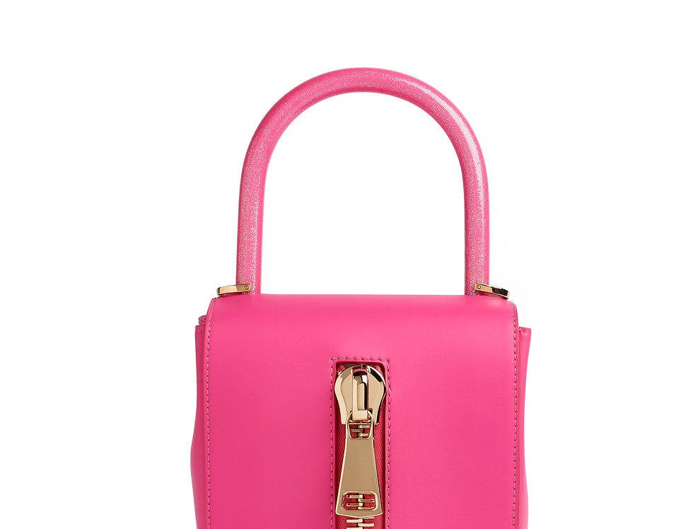 borsetta rosa glitter