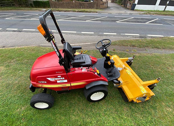Shibaura CM374 Out front mower c/w Muthing Flail