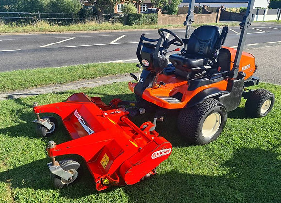 Kubota F3890 Out Front mower c/w Triamax Flail & Major Roller Mower