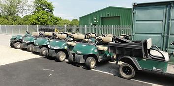Cart awaiting transport
