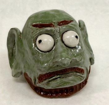 Pleasant Valley High School Ceramics - creature project Fall 2020