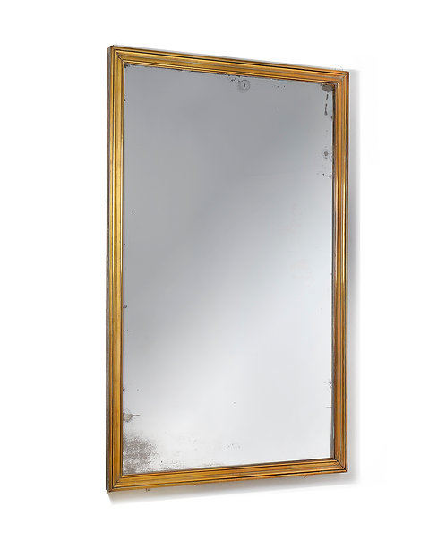 Fine quality Art Deco brass Brasserie Mirror