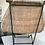 Thumbnail: John Risley rattan chair on iron frame American Circa 1950