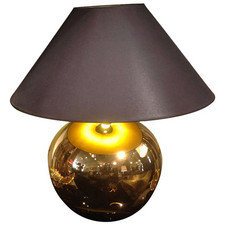 Gold ball lamp, Italian c1975