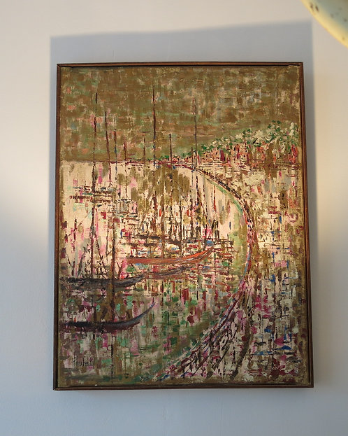 The bay of Marseille, signed and dated, Poulat 1961