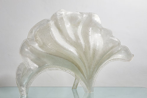 Rare Rougier lucite shell lamp