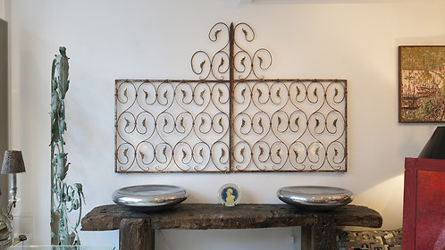 Fine pair of late 18th century painted iron panels