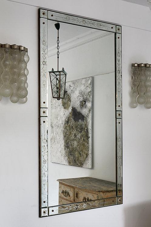 Large Italian Venetian Mirror