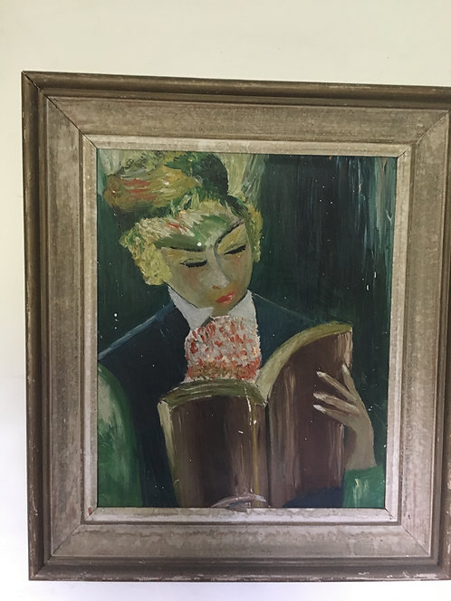 Oil on board painting in original frame