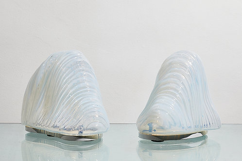 Pair of iceberg lamps by Carlo Nason