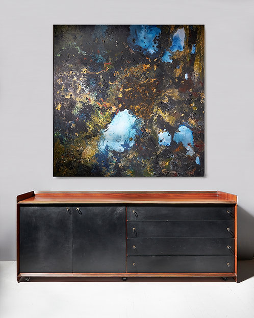 Afra and Tobia Scarpa rosewood and leather fronted cabinet