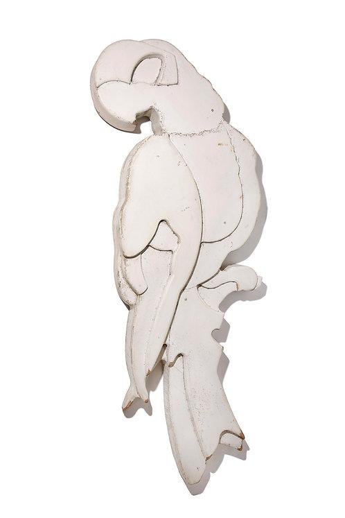 Large Rare laminated wood parrot