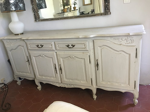 Mid 20th century French provincial painted buffet