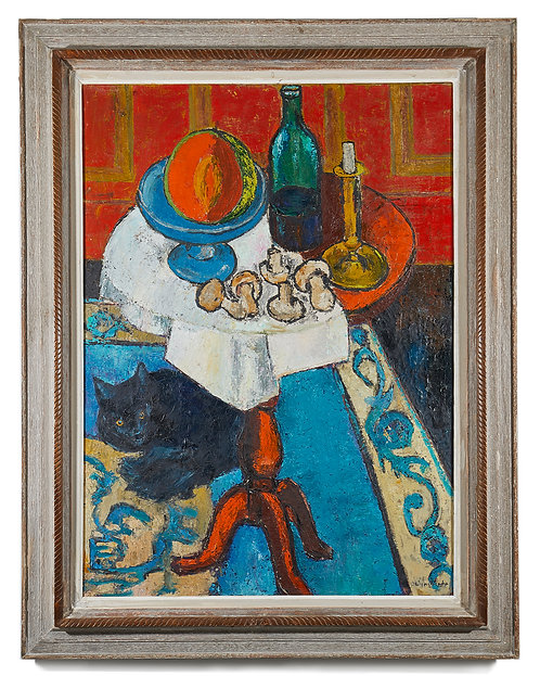 Oil Painting Still Life Signed Van Wynsberghe 1950's