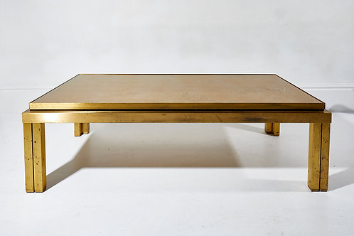 Maison Jansen Brass Lacquered Coffee Table