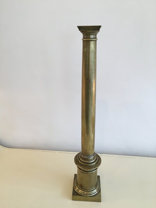 Large Brass Column Charles X