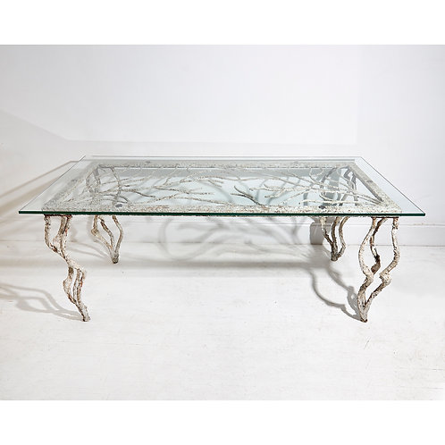 Large French Iron table simulating vines 1950's