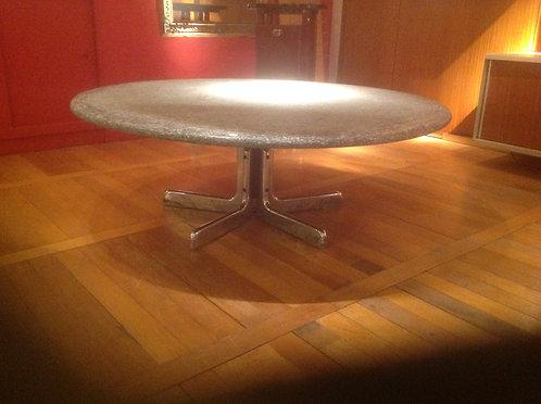 Circular coffee table, Perino di Marino marble top, Italian c1970