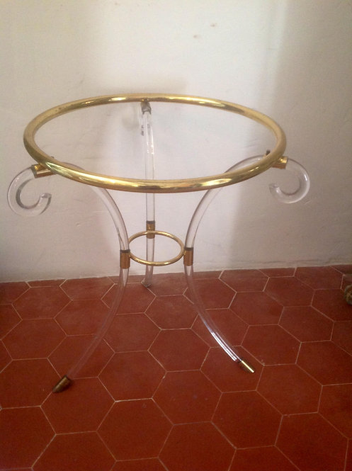 Perspex and brass round table