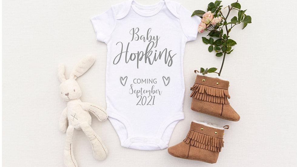 Personalised Heart Baby Vest/ Romper