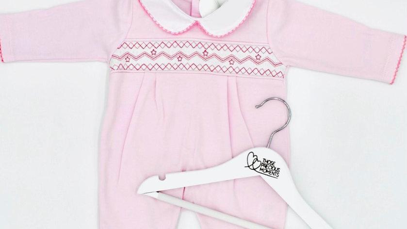 Pink Baby Smocked Romper