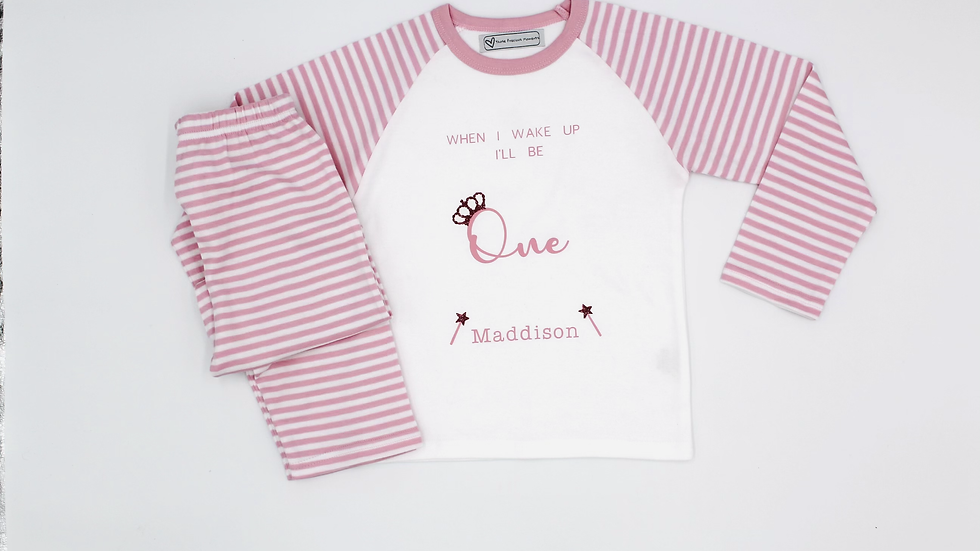 Baby Pink Birthday Pyjamas