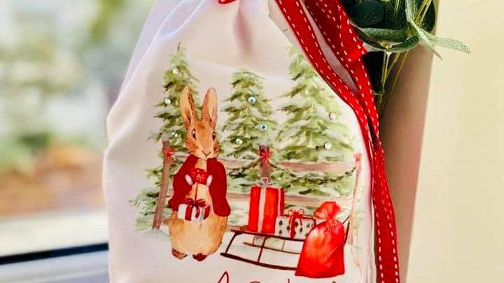 Christmas Rabbit Christmas Eve Sack