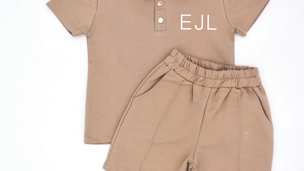 Boys Button up Shorts and Tee set