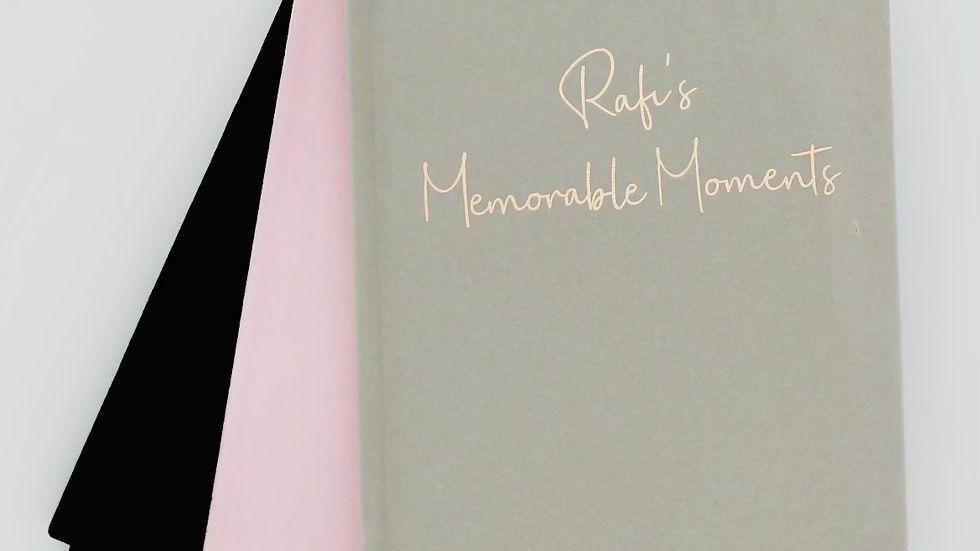 Personalised 'Memorable Moments' Book