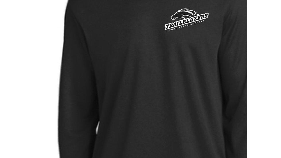 Black Long Sleeved Ring Spun Trailblazers Shirt
