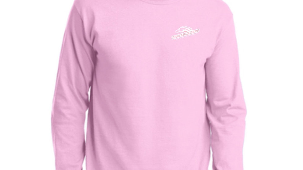 Light Pink Long Sleeved Ring Spun Trailblazers Shirt