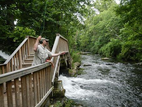 Fishing off Bridge