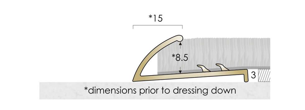 CAT Brass Flooring Profiles BNR
