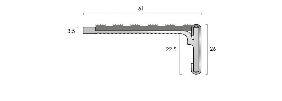 CAT Aluminium Nosing SN2SL