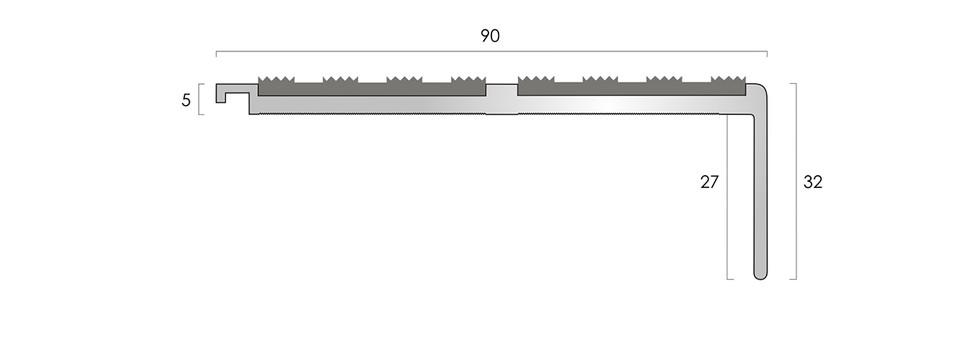 CAT Aluminium Nosing AN52