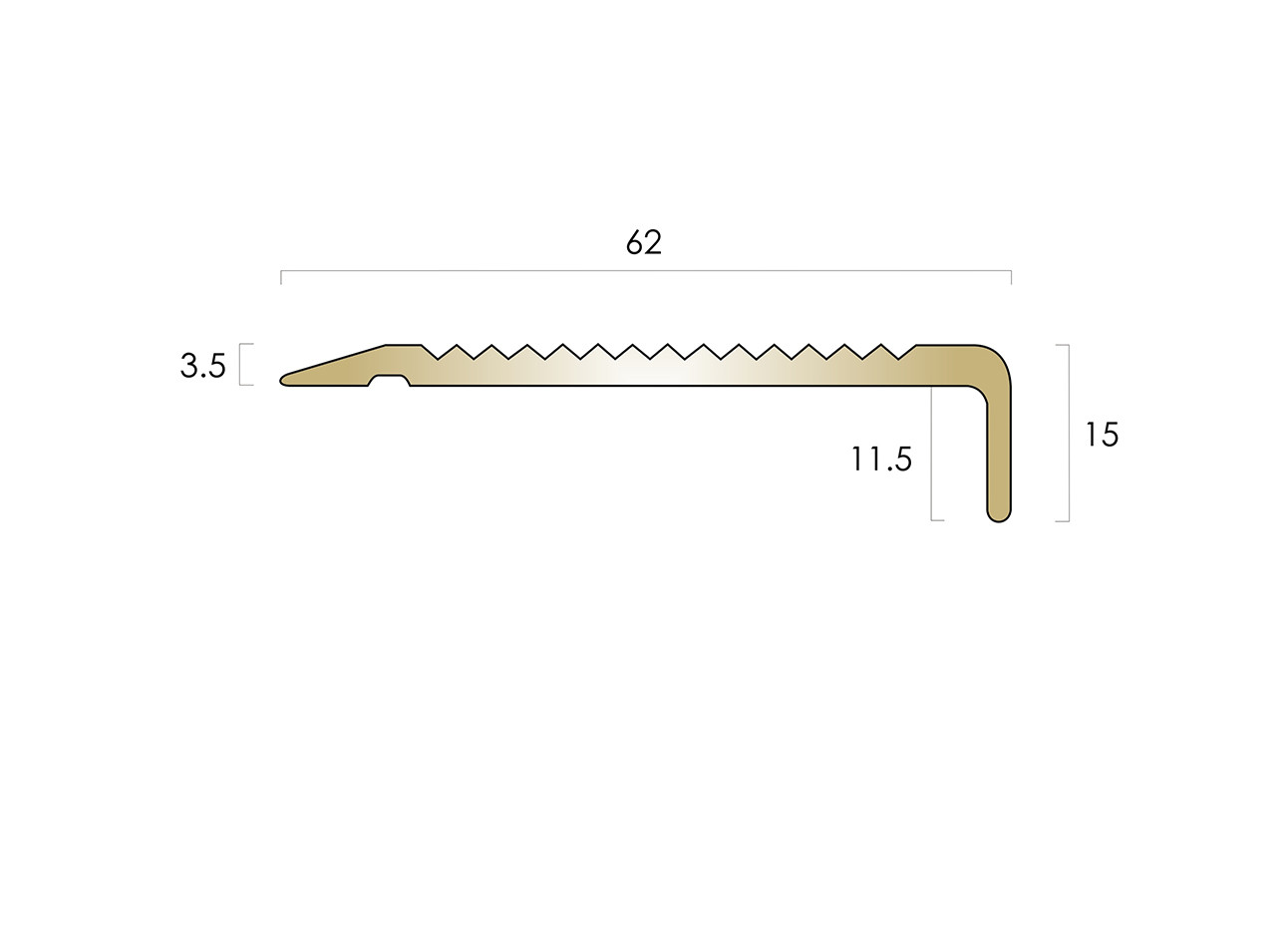 CAT Brass Nosing BN1SLR15