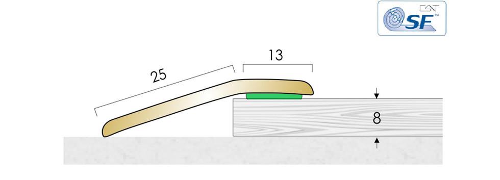 Solid Brass Ramp BR8 SF